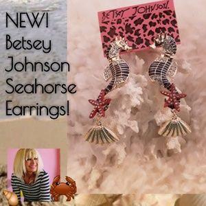 New! Betsey Johnson Seahorse Earrings!